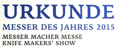Mein Messerpaar Black and White wird Best of show 2015 in Solingen
